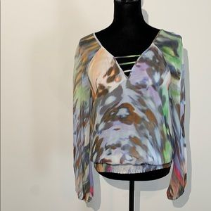 Leifsdottir Anthropologie watercolor long sleeve